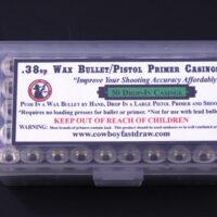 F.) .38 Wax Bullet Brass (Large Pistol Primer Drop-In) - 50ct-0