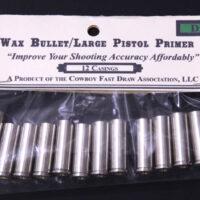 E.) .38 Wax Bullet Brass (Large Pistol Primer Drop-In) - 12ct-0