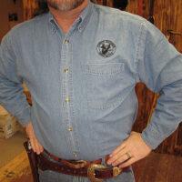 CFDA Long Sleeve Denim Shirt-0