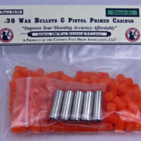 T.) NEW! .38 Wax Bullets and 5 Large Pistol Primer Drop In Brass Sampler-0