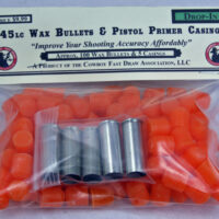 S.) NEW! .45 Wax Bullets and 5 Large Pistol Primer Drop In Brass Sampler-0