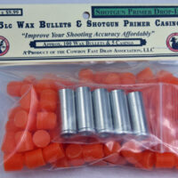 R.) NEW! .45 Wax Bullets and 5 Shotgun Primer Brass Sampler-0