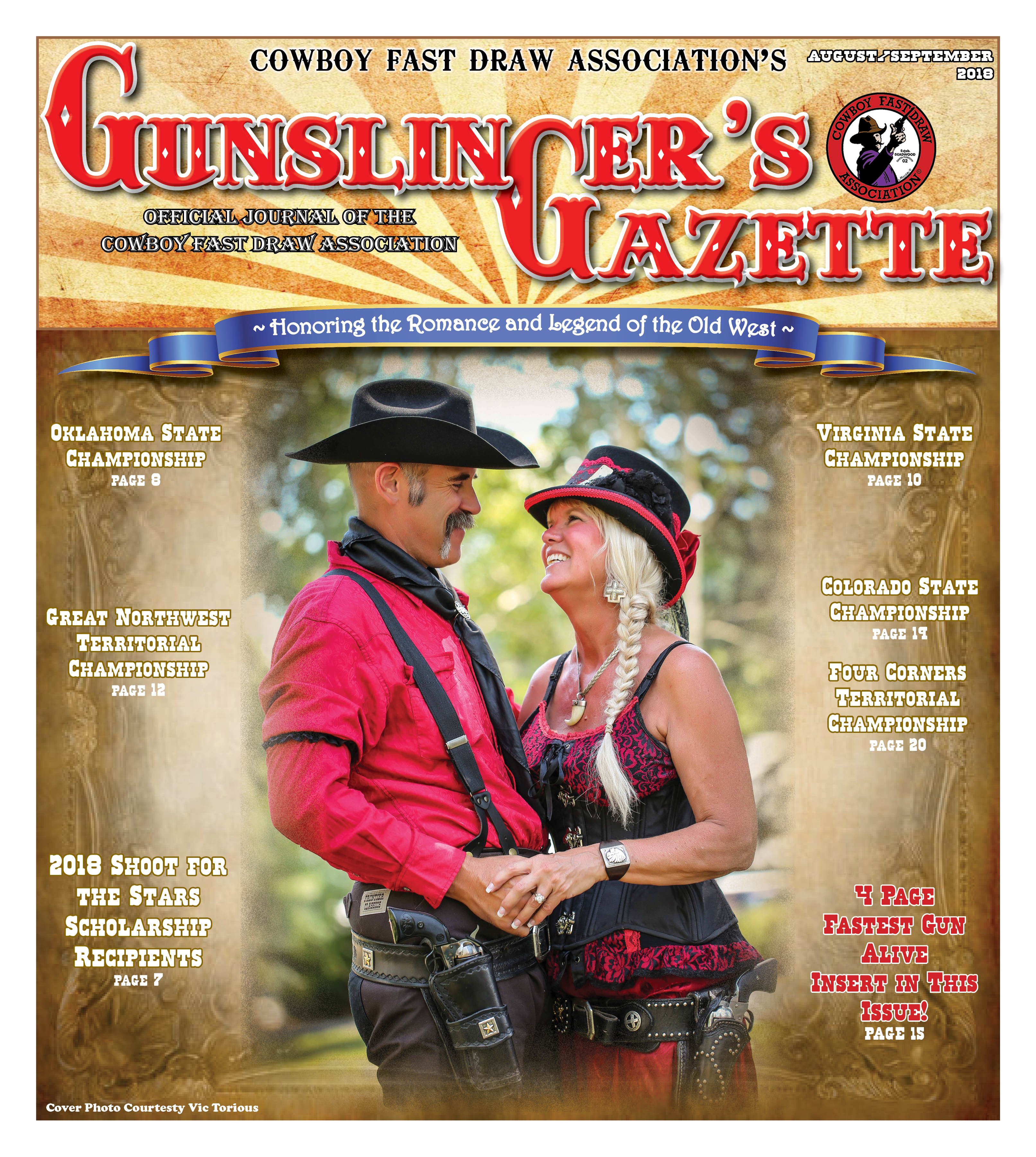 GunslingersGazette August Sept 2018 cover