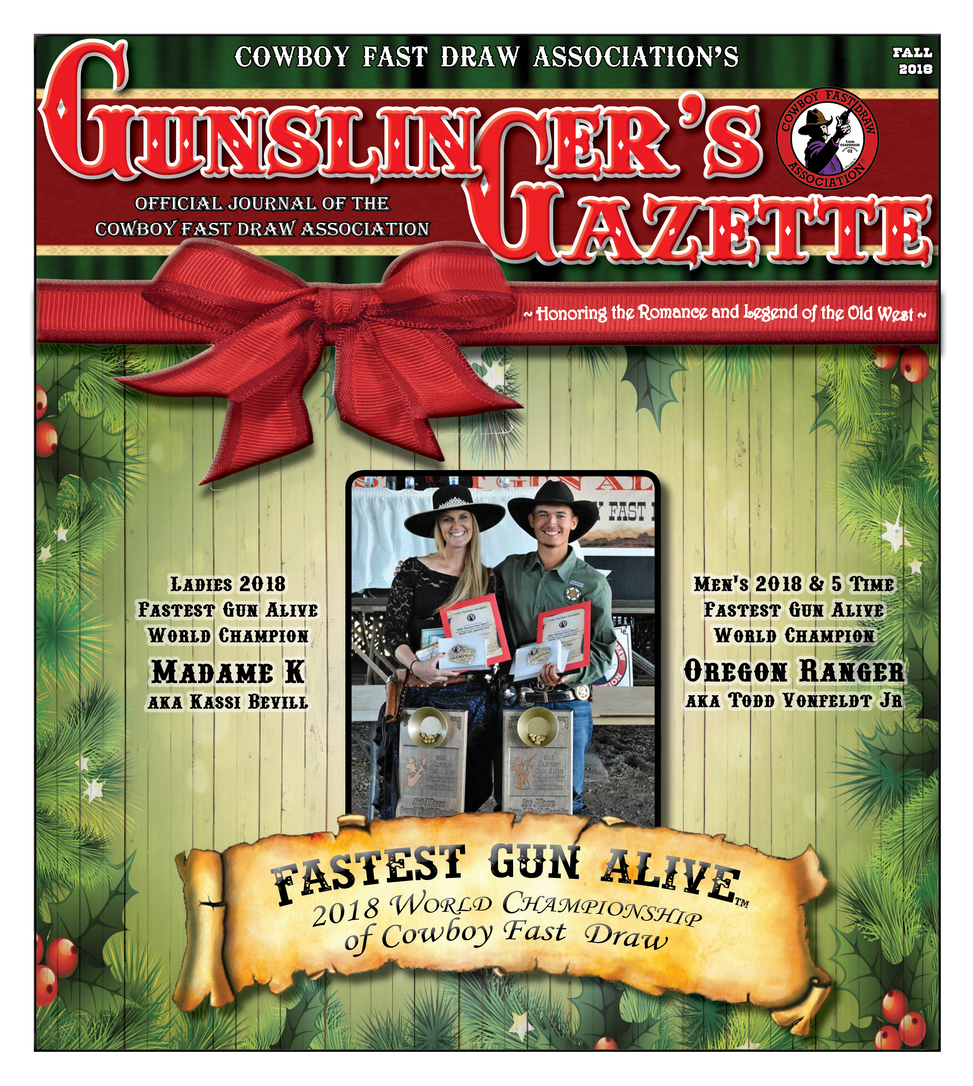 GunslingersGazette Fall 2018 cover