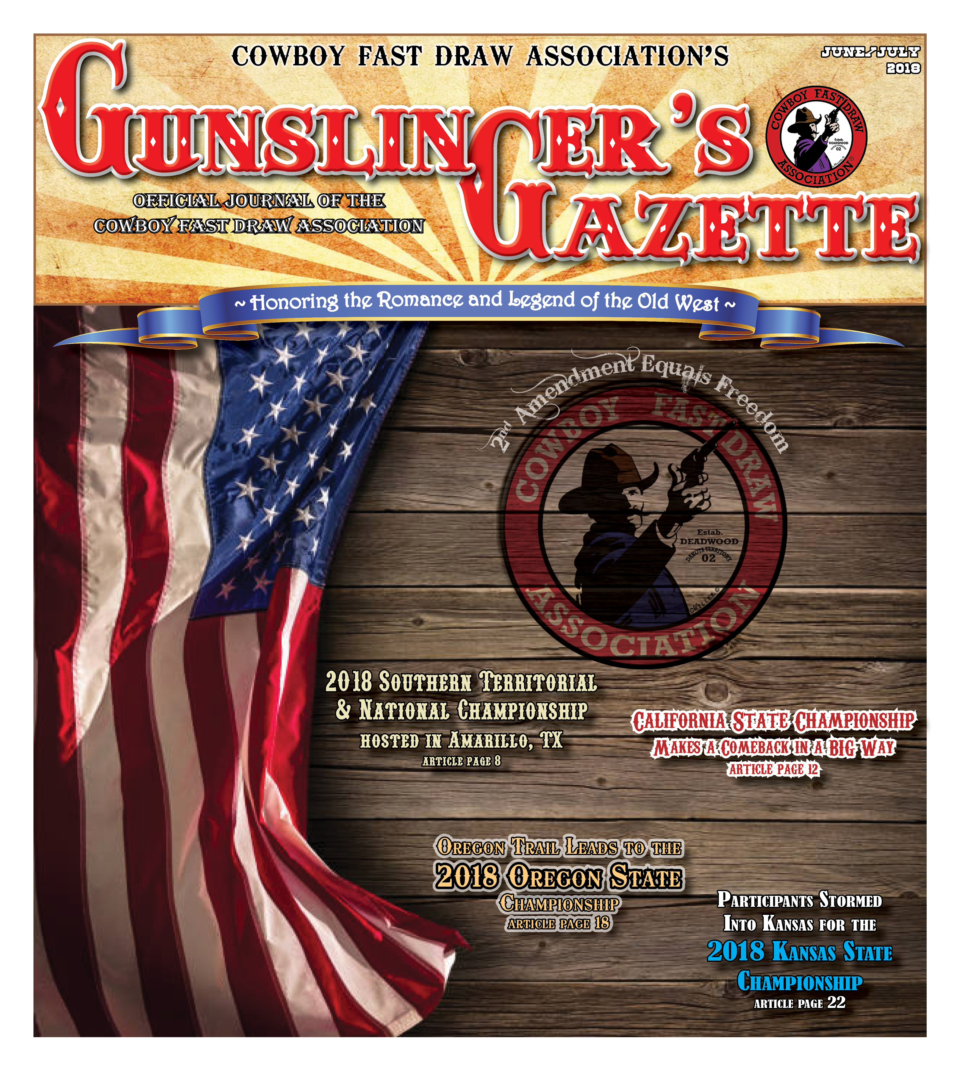 GunslingersGazette June July2018 cover
