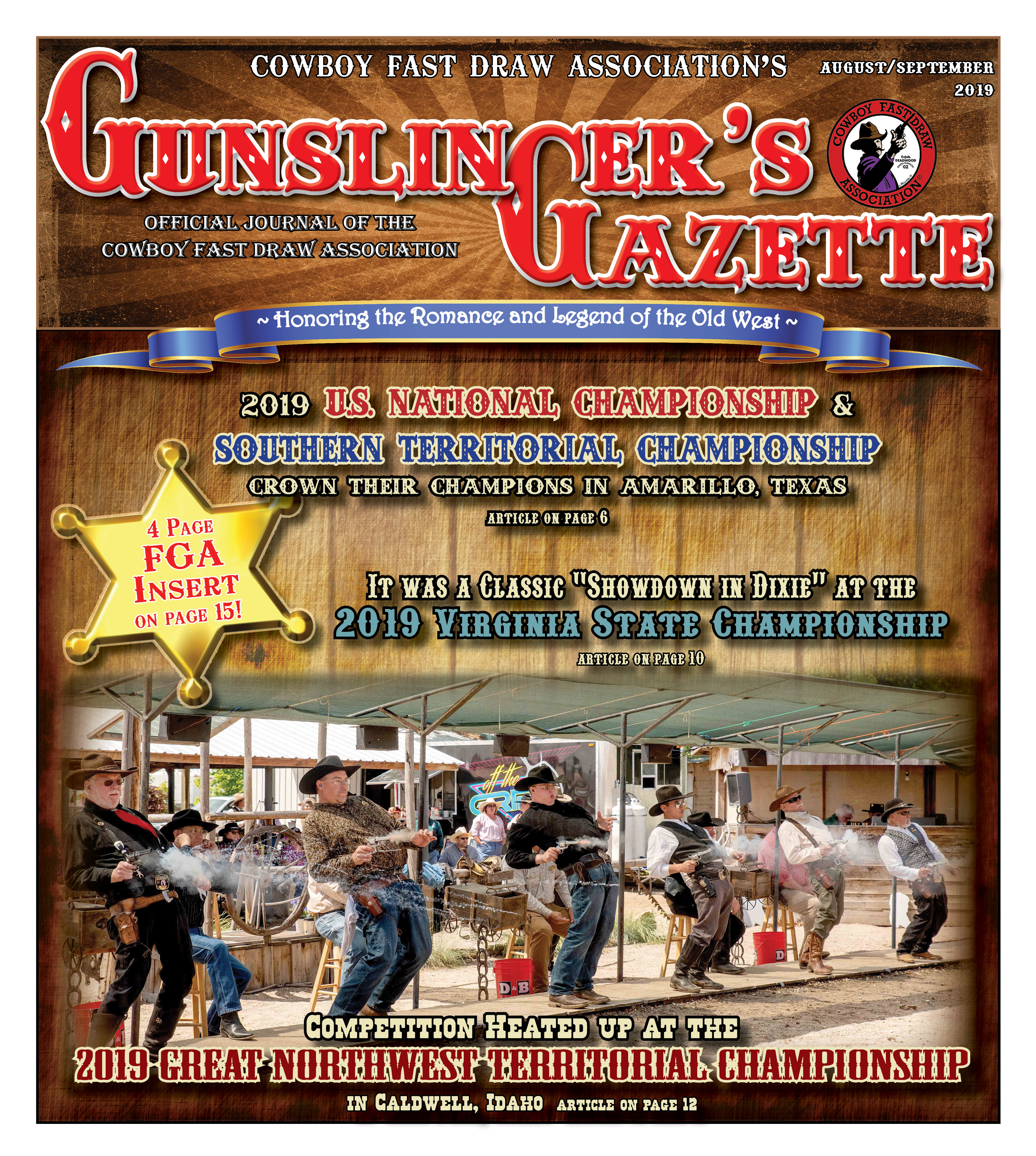 GunslingersGazette August September 2019 cover