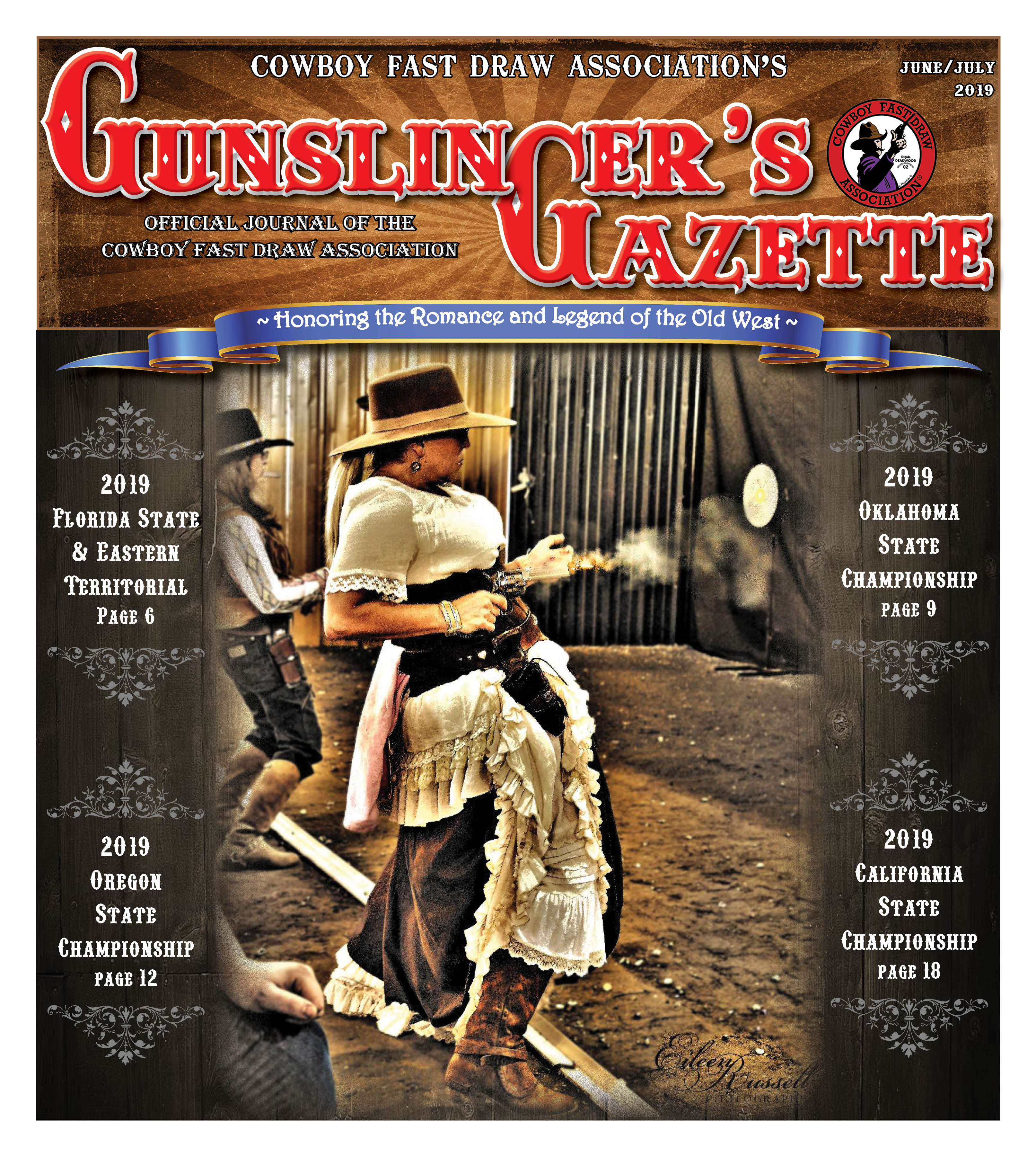 GunslingersGazette June July 2019 cover